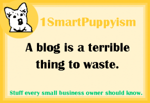 A Blog Is A Terrible Thing to Waste