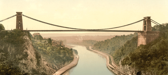 Clifton suspension bridge symbolizes the Content Bridge