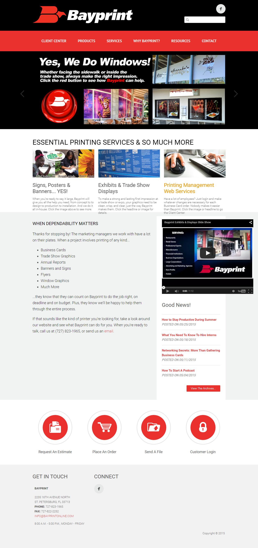 bayprintonline.com homepage