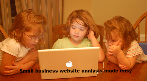 Three girls exemplify small business website analysis made easy